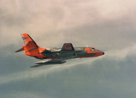 An Air Force Communications Service C-140A JetStar in flight in the early 1960s.