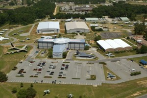 Aerial view of the museum in May 2008.