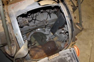 View inside the ball turret.