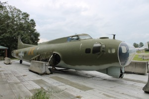 The fuselage of the B-17. It will be moved into the Scott Hangar in a few days.